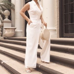 Other - White Wide Leg Pant Jumpsuit